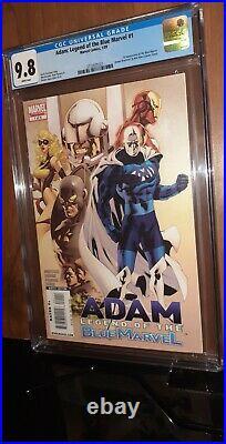 CGC 9.8 Adam Legend of the Blue Marvel # 1. First App Blue Marvel Adam Brashear