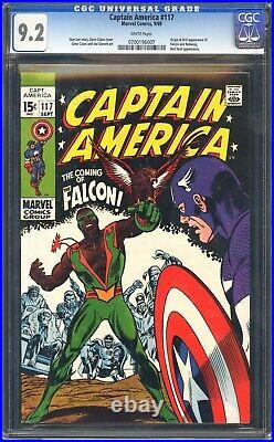 Captain America 117 CGC 9.2 Origin & first app of Falcon and Redwing! WHITE PGS