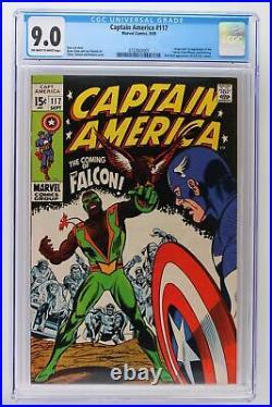 Captain America #117 Marvel 1969 CGC 9.0 1st App & Origin Falcon & Redwing