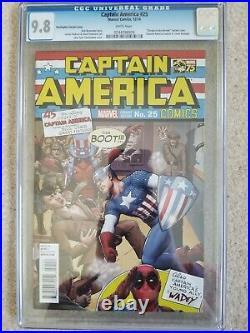 Captain America #25 CGC 9.8 125 Christopher Homage Variant 1st App Sam Wilson