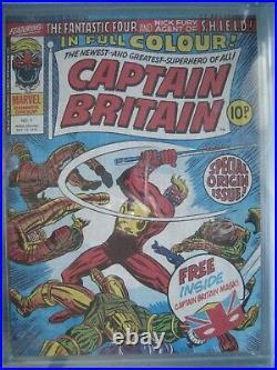 Captain Britain #1 CGC 9.4 WP Marvel 1976 Origin & 1st app Captain Britain