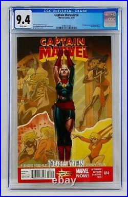 Captain Marvel #14 CGC 9.4 White Pages First Kamala Khan Appearance 1st App NM
