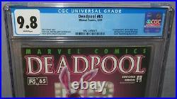 DEADPOOL #65 (Black Swan, Outlaw, Ratbag 1st app) CGC 9.8 NM/MT Marvel 2002