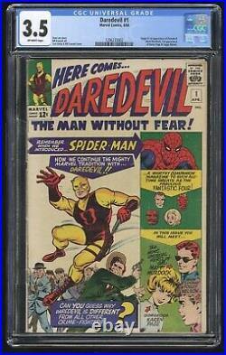Daredevil #1 CGC 3.5 (Marvel 4/64) 1st app & origin of Daredevil