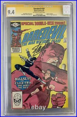 Daredevil #181, Signed Stan Lee! CGC 9.4 NM, Death of Elektra. Bullseye app. KEY