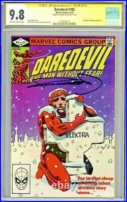 Daredevil #182 CGC 9.8 SS Frank Miller Signed Punisher Kingpin app OWithW Pages