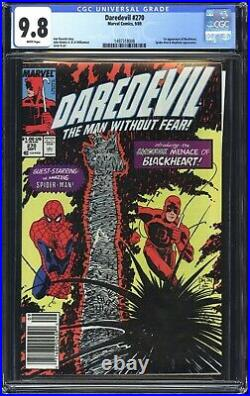 Daredevil 270 CGC 9.8 1st app of Blackheart