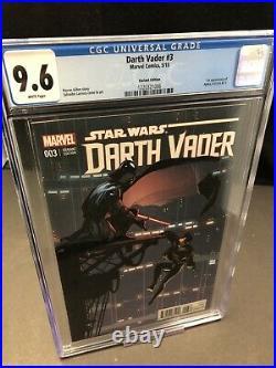 Darth Vader #3 Cgc 9.6 1st App Doctor Aphra! Larroca 125 Variant Marvel 2015