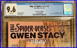 Edge Of Spider-Verse 2 CGC 9.6! Cmic Bug Variant! 1st App Spider Gwen! Not 9.8
