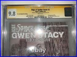Edge Of Spider-verse #2 Cgc 9.8 2x Signed 1st App. Spider-gwen