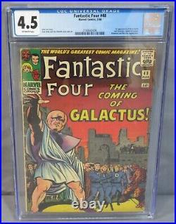 FANTASTIC FOUR #48 (Silver Surfer, Galactus 1st app) CGC 4.5 VG+ Marvel 1966