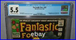 FANTASTIC FOUR #52 (Black Panther, T'Challa 1st app.) CGC 5.5 FN- Marvel 1966