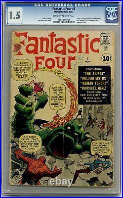 Fantastic Four #1 CGC 1.5 1961 1158814002 1st app. Fantastic Four