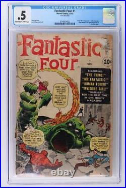 Fantastic Four #1 Marvel 1961 CGC 0.5 Origin & 1st App of the F. F
