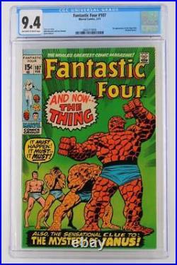 Fantastic Four #107 -NEAR MINT- CGC 9.4 NM Marvel 1971 1st App Nega-Man