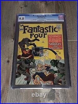 Fantastic Four 2 CGC 9.0 VF/NM OWithW marvel 1962 1st App Skrulls High Grade NICE