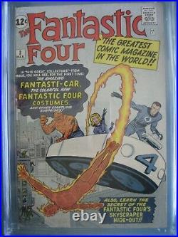Fantastic Four #3 CGC 4.5 Marvel Comics 1962 1st app Miracle Man