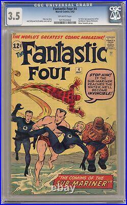 Fantastic Four #4 CGC 3.5 1962 1013520002 1st Silver age app. Sub-Mariner