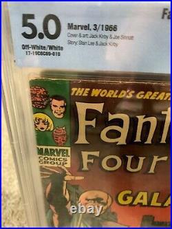 Fantastic Four 48 & 50 CGC CBCS 5.0 1st App Silver Surfer Galactus lot Old label