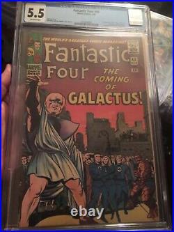Fantastic Four #48 CGC 5.5 OW KEY 1st Silver Surfer & Galactus + Inhumans app