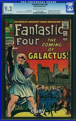 Fantastic Four 48 CGC 9.2 NM- OWithW pgs Marvel 1st app Silver Surfer & Galactus