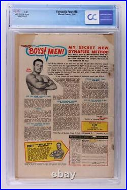 Fantastic Four #48 Marvel 1966 CGC 1.8 1st App & Origin Silver Surfer! Signed