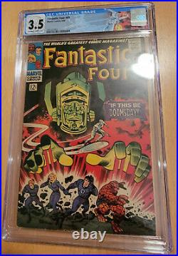Fantastic Four #49 1st App Galactus & 2nd App Silver Surfer Cgc 3.5 Ow To Wp
