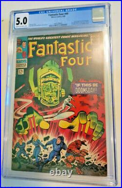 Fantastic Four #49 1st App Galactus & 2nd App Silver Surfer Cgc 5.0 Cr To Ow
