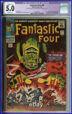 Fantastic Four #49 CGC 5.0 (R) 1st Full App Galactus 2nd Silver Surfer
