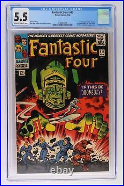 Fantastic Four #49 Marvel 1966 CGC 5.5 1st full App Galactus