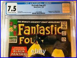 Fantastic Four #52 (Jul 1966, Marvel) CGC 7.5 1st App. Of the Black Panther