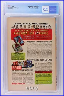 Fantastic Four #67 Marvel 1967 CGC 7.5 Origin & 1st App of HIM (Adam Warlock)