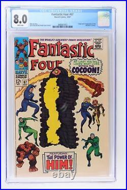 Fantastic Four #67 Marvel 1967 CGC 8.0 Origin & 1st App of HIM (Adam Warlock)