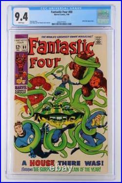 Fantastic Four #88 -NEAR MINT- CGC 9.4 NM Marvel 1969 Mole Man App