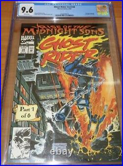 GHOST RIDER #28 (V2) CGC 9.6 NM+ 1st App Midnight Sons & Lilith 2 Wht Pgs