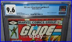 GI JOE, A REAL AMERICAN HERO #1 (First app) CGC 9.6 NM+ Marvel Comics 1982 g. I