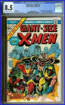 GIANT-SIZE X-MEN #1 CGC 8.5 OWithWH PAGES // 1ST APP NEW X-MEN + 2ND WOLVERINE