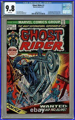 Ghost Rider #1 CGC 9.8 1973 0962782013 1st app. Daimon Hellstrom (Son of Satan)