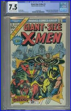 Giant Size X-men #1 Cgc 7.5 1st App New X-men 2nd Full App Wolverine Ow White