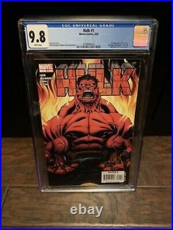Hulk #1 CGC 9.8 WHITE Pages 1st App Red Hulk Thunderbolts Marvel 3759094013