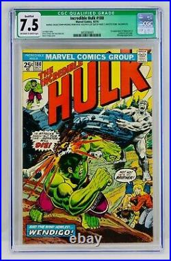 Hulk #180 CGC 7.5 Qualified First Wolverine Appearance 1st App Cameo Green Label