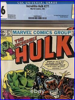 INCREDIBLE HULK #271 CGC 9.6 White Pages 1ST COMIC BOOK APP OF ROCKET RACCOON