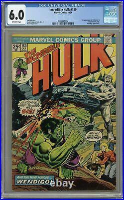 Incredible Hulk #180 CGC 6.0 1974 2105269012 1st app. Wolverine (cameo)