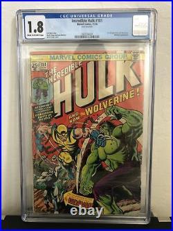 Incredible Hulk 181 CGC 1.8 OW 1st FULL App WOLVERINE Marvel 194