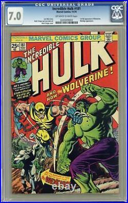Incredible Hulk #181 CGC 7.0 1974 0245009003 1st app. Wolverine (full non-cameo)