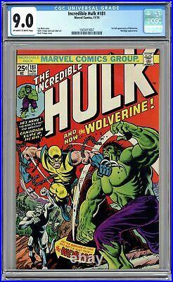 Incredible Hulk #181 CGC 9.0 1974 1565413007 1st app. Wolverine (full non-cameo)