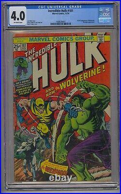 Incredible Hulk #181 Cgc 4.0 1st Full Wolverine Wendingo App