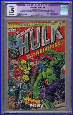 Incredible Hulk #181 Cgc. 5 1st Full Wolverine Wendingo App