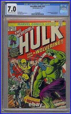 Incredible Hulk #181 Cgc 7.0 1st Full Wolverine Wendingo App Never Pressed