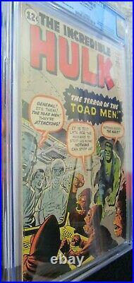 Incredible Hulk #2 (1st App Green Hulk) Huge Mega Marvel Key Cgc 3.0 (looks 4.5)